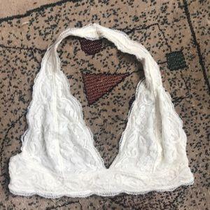 White lace bra